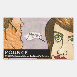 Meow Rectangular Sticker