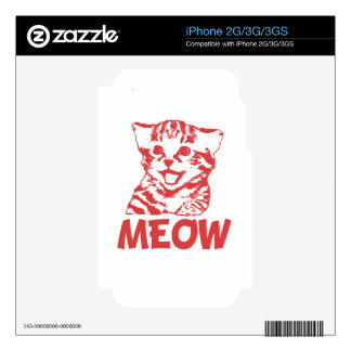 MEOW Red Skins For iPhone 3G