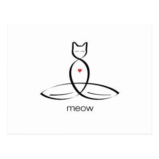 Meow - Regular style text. Postcard