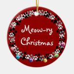 Meow-ry Christmas Christmas Tree Ornaments