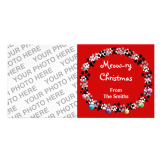 Meow-ry Christmas Photo Greeting Card