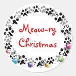 Meow-ry Christmas Sticker