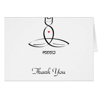 Meow - Sanskrit style text. Card