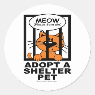Meow (Save Me) Classic Round Sticker