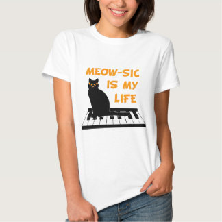 Meow-sic Is My Life Shirts