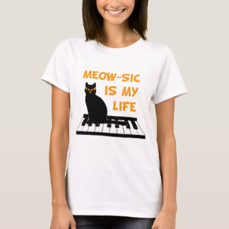 Meow-sic Is My Life T-Shirt