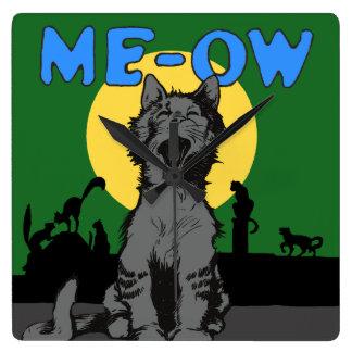 Meow Square Wall Clock