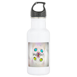 MEOW! STAINLESS STEEL WATER BOTTLE