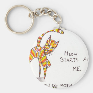 Meow Starts with ME Keychain