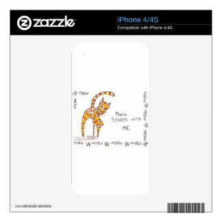 Meow Starts with ME iPhone 4S Decal