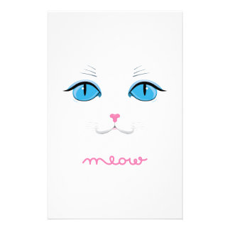 Meow Personalized Stationery