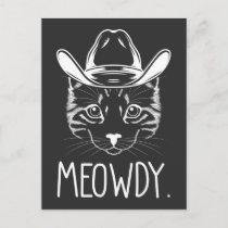Meow Texas Cat Meme Cowboy Howdy Western Country Postcard