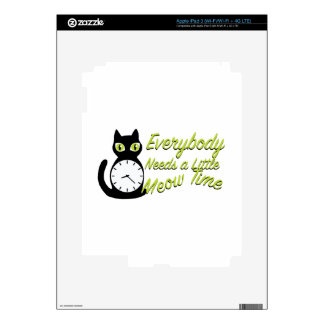 Meow Time Decals For iPad 3