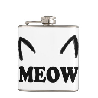 Meow With Cat Ears Flask