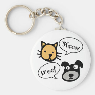Meow Woof Keychains