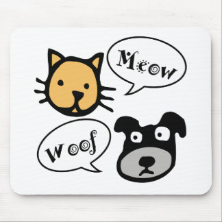 Meow Woof Mouse Pad