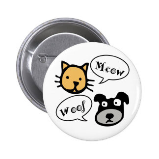 Meow Woof Pinback Button