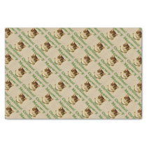 Meow-y Christmas, Cute Funny Holiday Cat Animal Tissue Paper
