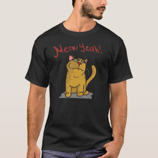 Meow Yeah - 2-sided Black T-Shirt
