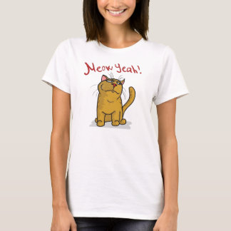 Meow Yeah - 2-sided  Ladies Fitted T-Shirt