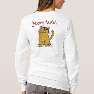 Meow Yeah - Design Ladies Long Sleeve T-Shirt