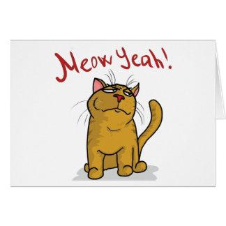 Meow Yeah - Horizontal Greeting Card