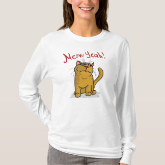 Meow Yeah -  Ladies Logn Sleeve T-Shirt