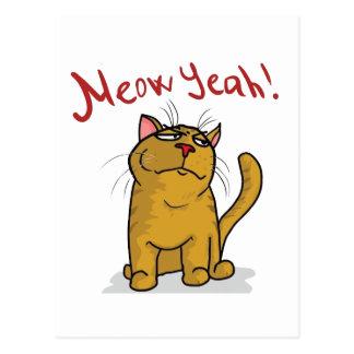 Meow Yeah - Vertical  Postcard