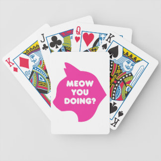 Meow You Doing Playing Cards