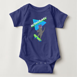 Meowabunga Kitty Cat Apparel Baby Baby Bodysuit