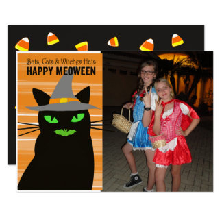 Meoween Halloween photo Card