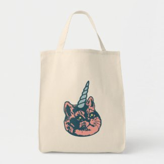 Meowgical Kittycorn Heavy Breathing Cat Meme Tote Bag