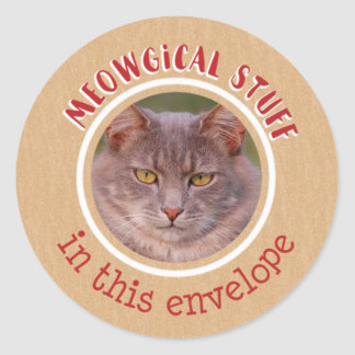 Meowgical Stuff Classic Round Sticker