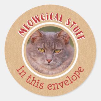 Meowgical Stuff Classic Round Sticker