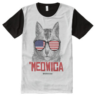 Meowica - - Politiclothes Humor --.png All-Over-Print T-Shirt