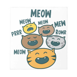 meowing cats notepad