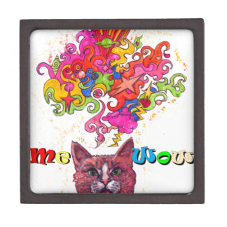Meowing Psychedelic Cat Gift Box