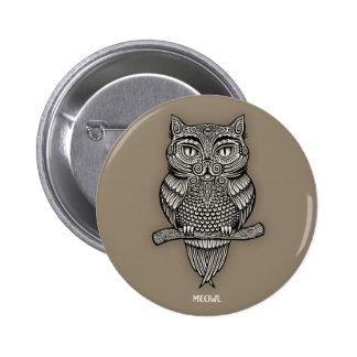 Meowl 2 Inch Round Button