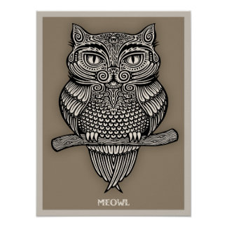 Meowl Posters