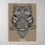 Meowl Print
