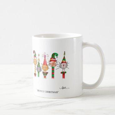 Coffee Themed MEOWLY CHRISTMAS! Coffee Mug
