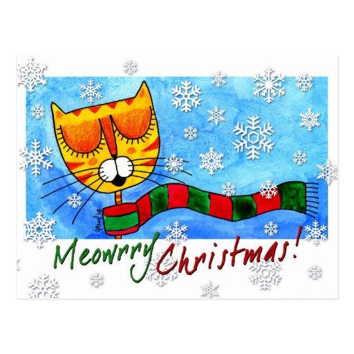 Meowrry Christmas! - Postcard