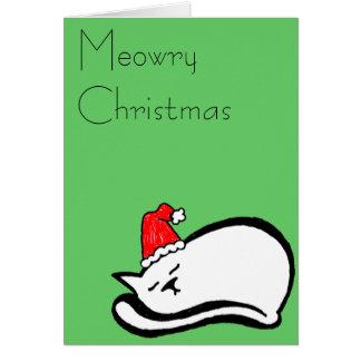 Meowry Christmas Card (customizable)