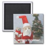 MEOWry Christmas! Fridge Magnet