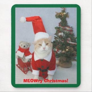 MEOWry Christmas! Mouse Pad