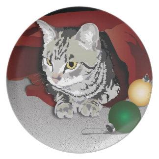 Meowry Christmas Plate