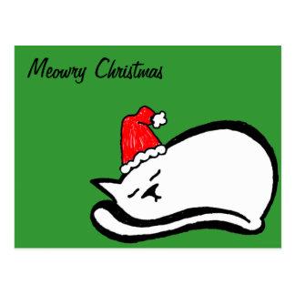 Meowry Christmas Postcard (customizable)