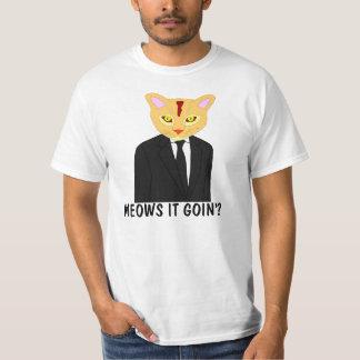 Meows it going? Orange Cat T-shirt