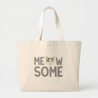 Meowsome Large Tote Bag