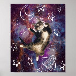 Meowstronaut Kiba Poster